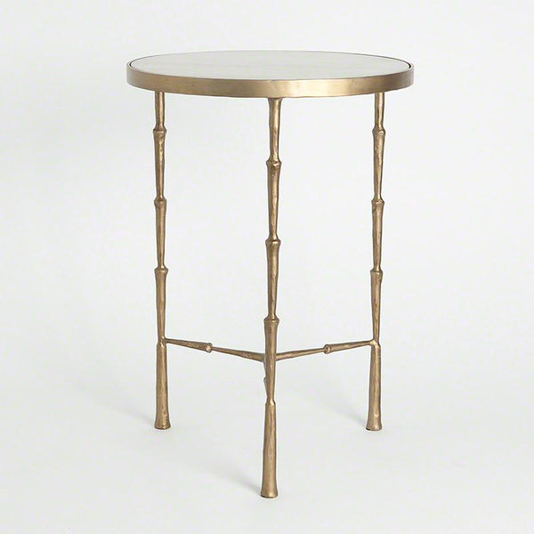 Global Views Furniture Studio A Spike Accent Table w/ White Marble