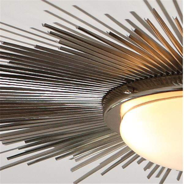 Global Views Lighting Sunburst Light Fixture-Nickel