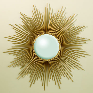 Global Views Home Sunburst Mirror w/Security HDWE-Gold 9.90325-SH