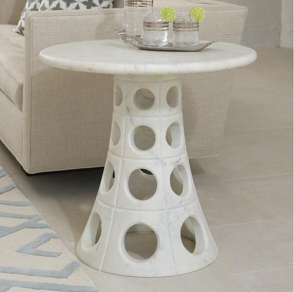 Global Views Furniture Taper Circle Side Table
