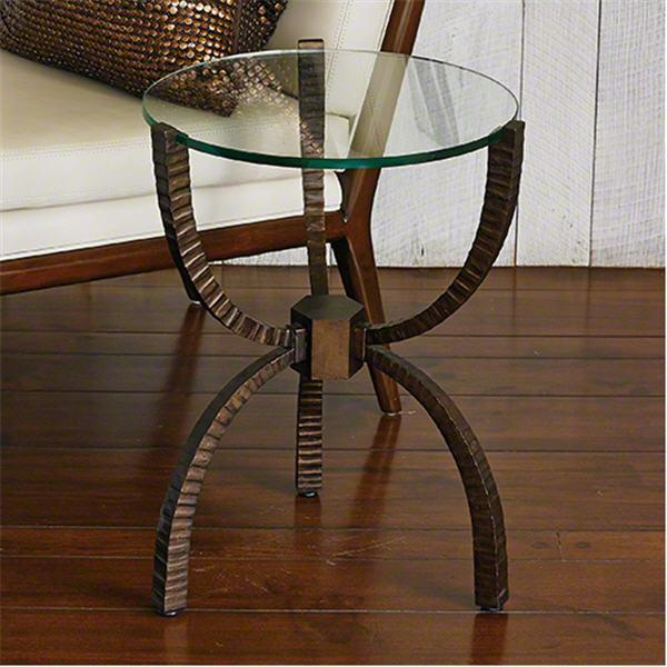 Global Views Furniture Teton Accent Table-Bronze