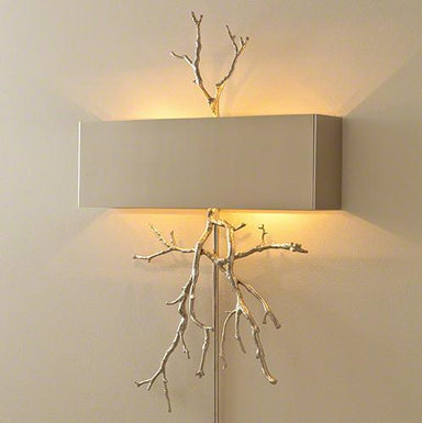 Global Views Lighting Twig Electrified Wall Sconce-Nickel