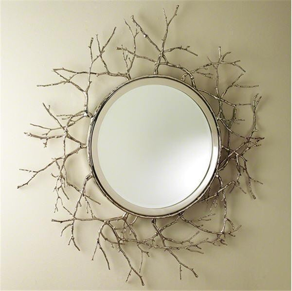 Global Views Home Twig Mirror-Nickel
