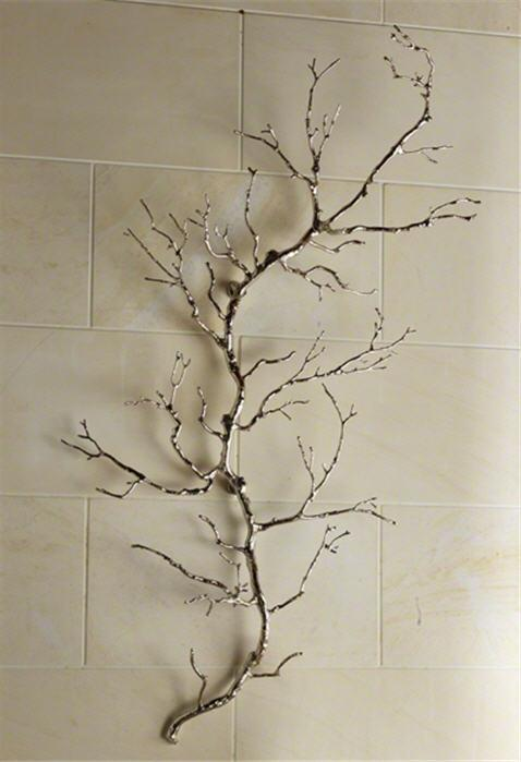Global Views Home Twig Wall Art-Nickel