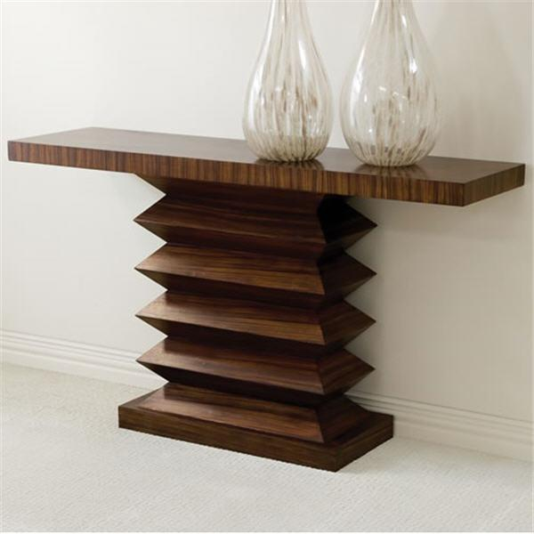 Global Views Furniture Zig Zag Console Table