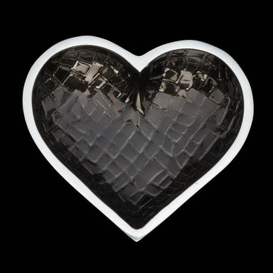 Inspired Generations Giftware CROCO HEART - BLACK: 100198-BLCRO