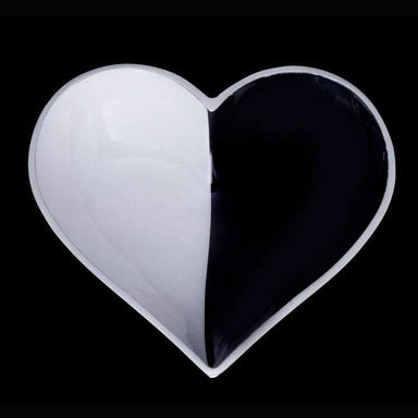 Inspired Generations Giftware Inspired Generations Happy Black & White Cookie Heart with Spoon: 100198-BWCK