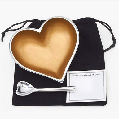 Inspired Generations Giftware Inspired Generations Heart Of Gold with Spoon: 100198-GLD