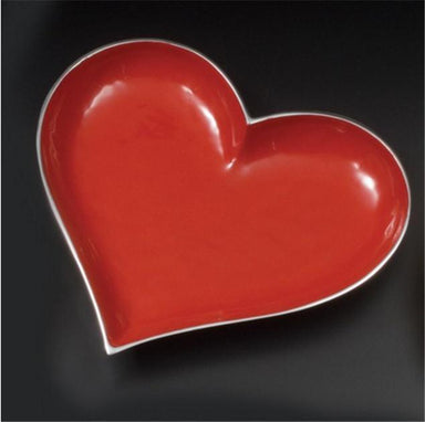 Inspired Generations Giftware Inspired Generations Hot Red Lil Heart Dish with Heart Spoon: 100198-R