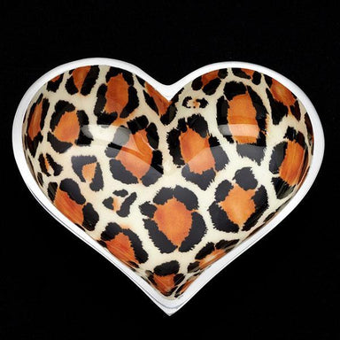 Inspired Generations Giftware Inspired Generations Leopard Lil Heart Decorative Dish with Heart Spoon: 100198-LEOPARD