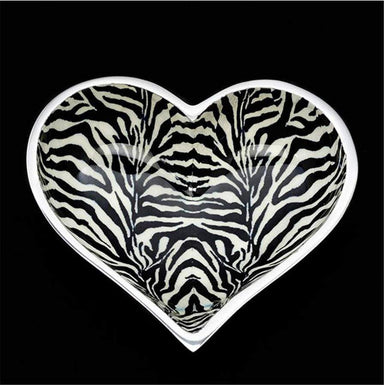 Inspired Generations Giftware Inspired Generations Lil Zebra Heart Dish with Heart Spoon: 100198-ZEBRA