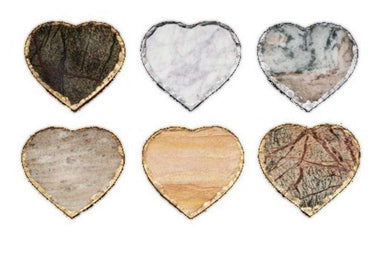 Inspired Generations Giftware Inspired Generations Love Heart Marble 6 Pc Coaster Set: 102747