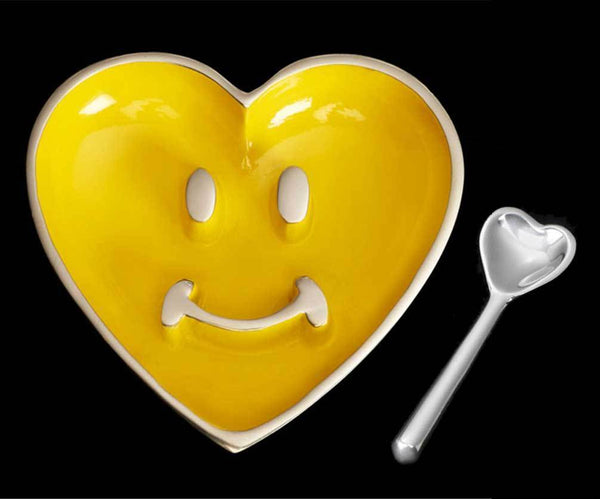 Inspired Generations Giftware Inspired Generations Pauli Smiley Heart Yellow Spoon: 102373-Y