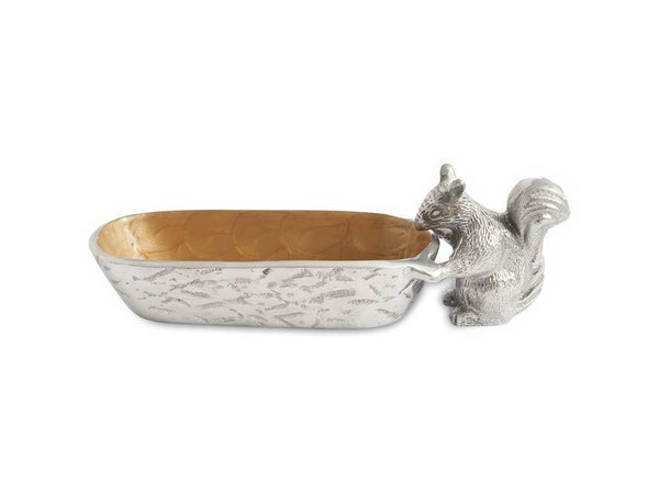 "Julia Knight Serveware Julia Knight Squirrel Cracker 9.75"" Tray Toffee"