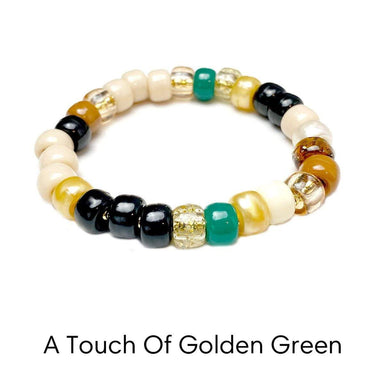 Love, Lisa Jewelry Love, Lisa - A Touch Of Golden Green Glam Beaded Bracelet