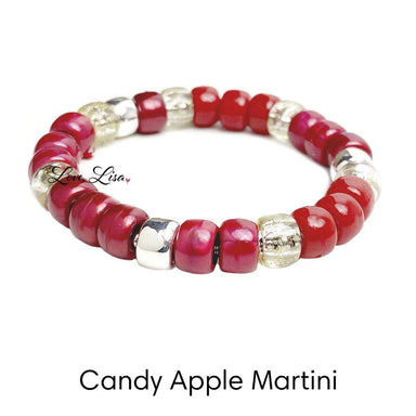 Love, Lisa Jewelry Love, Lisa - Candy Apple Martini Glam Beaded Stretch Bracelet