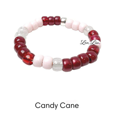 Love, Lisa Jewelry Love, Lisa - Candy Cane Glam Beaded Bracelet