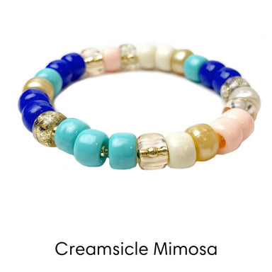 Love, Lisa Jewelry Love, Lisa - Creamsicle Mimosa Glam Beaded Stretch Bracelet