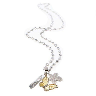 Love, Lisa Jewelry Love, Lisa - Fancy Diamond By The Yard Necklace With Charms