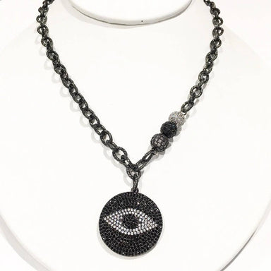 Love, Lisa Jewelry Love, Lisa - Gwen's Evil Eye Signature Necklace Gunmetal