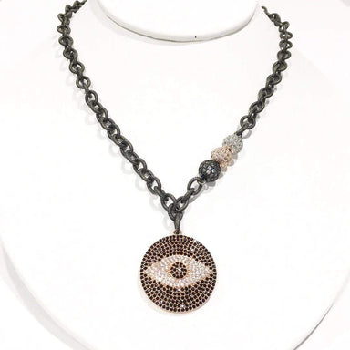 Love, Lisa Jewelry Love, Lisa - Gwen's Evil Eye Signature Necklace Rose Gold