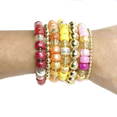 Love, Lisa Jewelry Love, Lisa - Limoncello Glam Beaded Stretch Bracelet