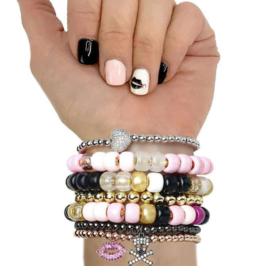 Love, Lisa Jewelry Love, Lisa - Pink Party Girl Glam Beaded Bracelet