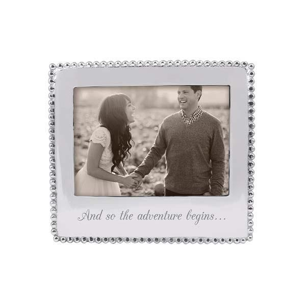 Mariposa Picture Frames Mariposa AND SO THE ADVENTURE BEGINS Beaded 5x7 Frame