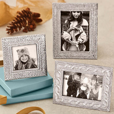 Mariposa Picture Frames Mariposa Cable Knit 4x6 Frame