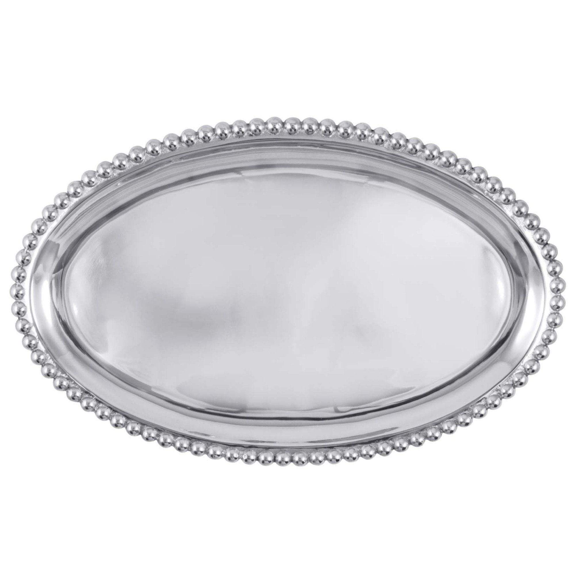 Mariposa Pearled Large Oval Platter