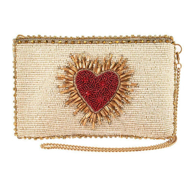 Mary Frances Handbags Heart Burst Beaded Crossbody Phone Bag