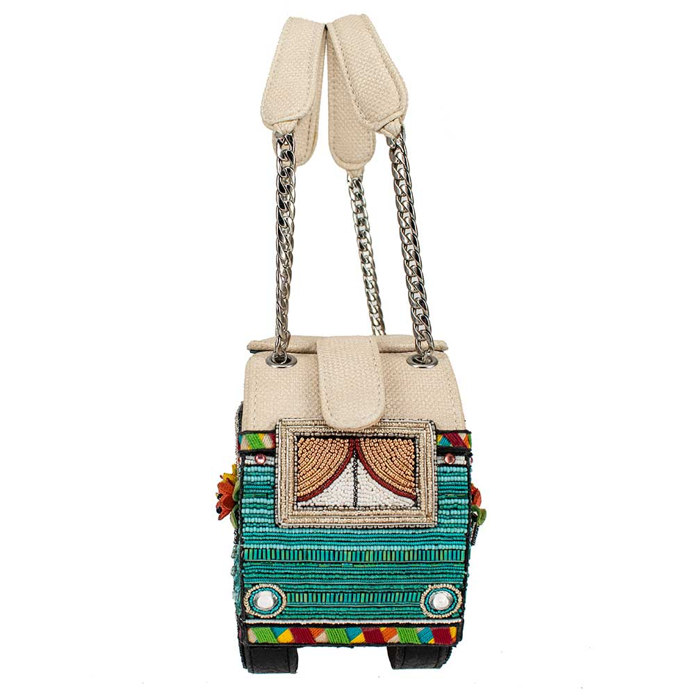 Mary Frances Handbags Mary Frances A Little Campy Beaded Camper Top-Handle Bag