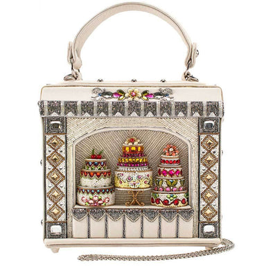 Mary Frances Handbags Mary Frances Cake Shop Embellished Top Handle Crossbody Handbag Purse, Ivory