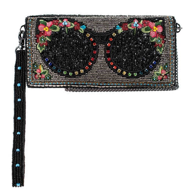 Mary Frances Handbags Mary Frances Shades Beaded Crossbody Phone Wallet, Multi