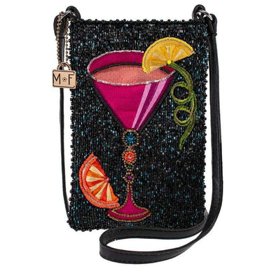 Mary Frances Handbags Mary Frances Take a Sip Beaded Leather Crossbody Phone Bag