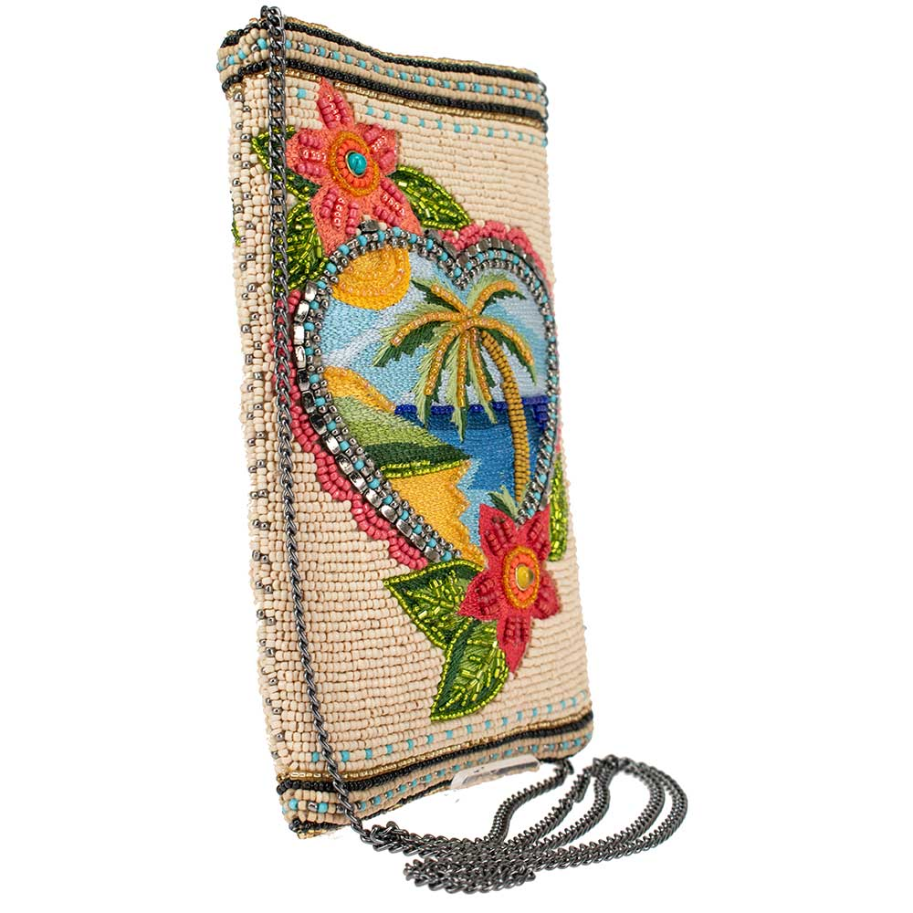 Mary Frances Handbags Mary Frances Vacation Dreaming Beaded Crossbody Phone Bag