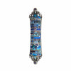 Michal Golan Judaica Michal Golan Mezuzah in Multi-Blue