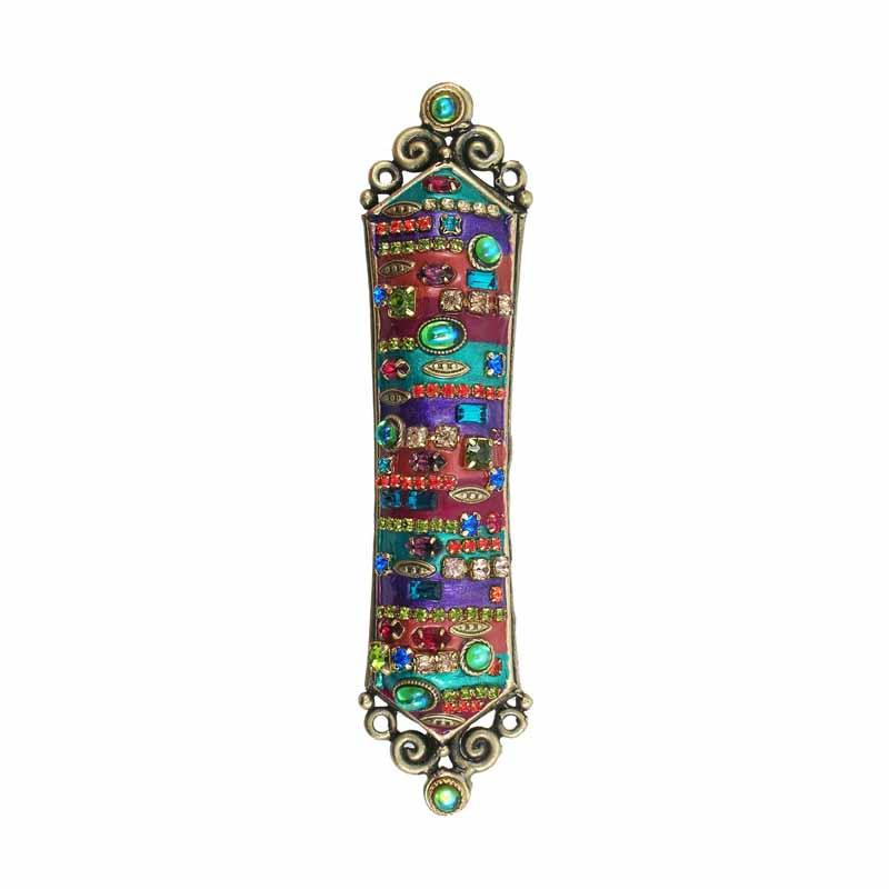 Michal Golan Mezuzah in Multi-Bright