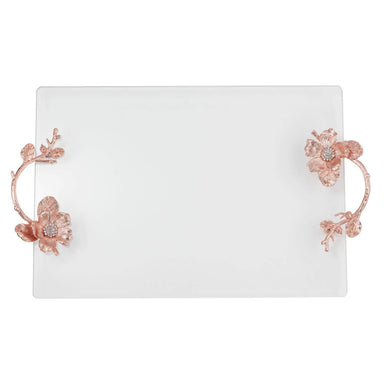 Olivia Riegel Giftware Olivia Riegel Rose Gold Botanica Glass Tray