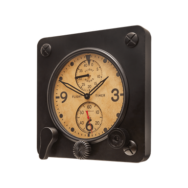 Pendulux Designs Giftware Pendulux Flight Timer Wall Clock Black