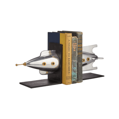 Pendulux Designs Giftware Pendulux Rocket Bookends Aluminum