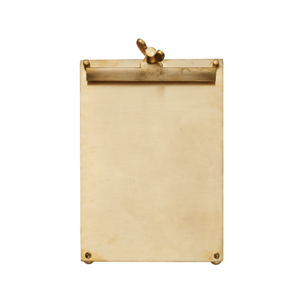 Pendulux Designs Giftware Pendulux Scribner Notepad Brass Large