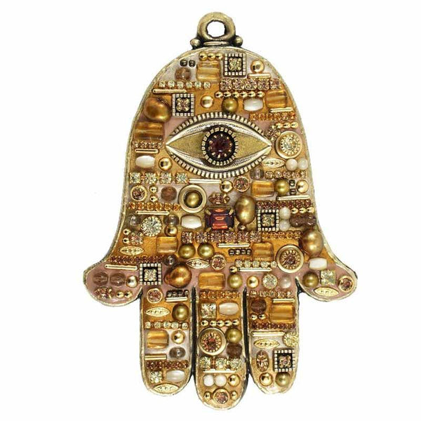 Shop The Addison Judaica Michal Golan Citrine Wall Hamsa