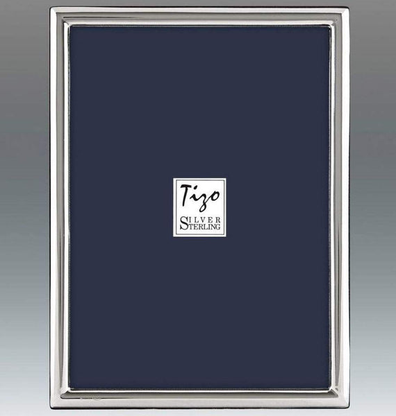 Tizo Designs Picture Frames Tizo 2x3 Smooth Border Siena Sterling Frame