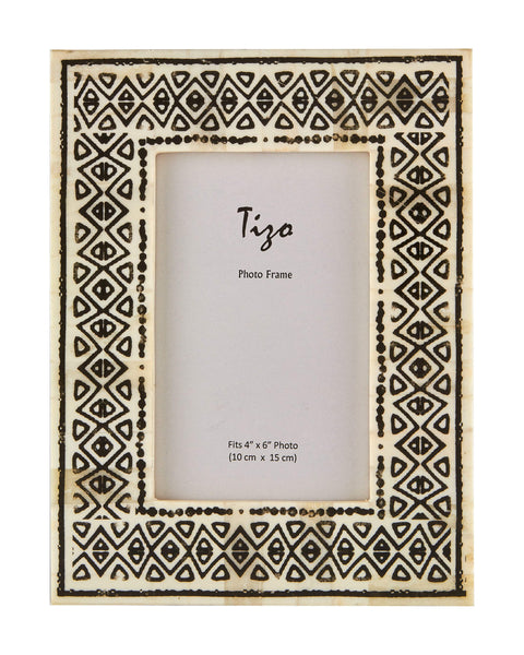 Tizo Designs Picture Frames Tizo 4x6 Traditional Bone Frame