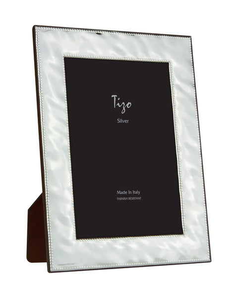 Tizo Designs Picture Frames Tizo 5x7 Classic Hammered Beaded Silverplate Frame
