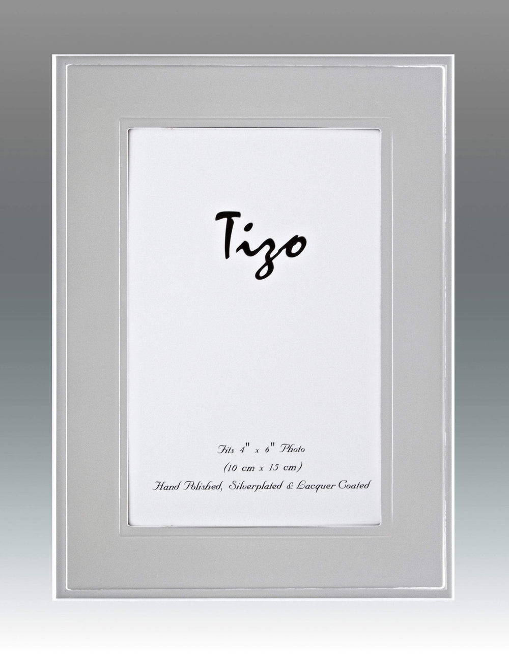 Tizo 5x7 Flat Bevel Border Silverplate Frame (Satin Finish)