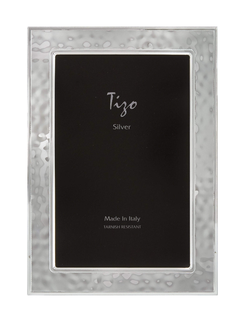 Tizo 5x7 Hammered Silverplate Frame