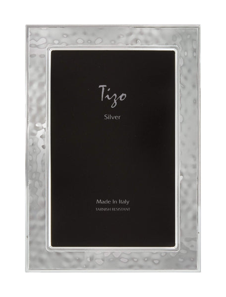 Tizo Designs Picture Frames Tizo 5x7 Hammered Silverplate Frame