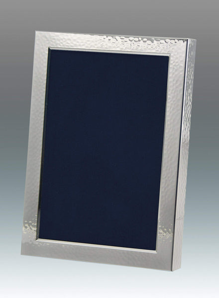 Tizo Designs Picture Frames Tizo 5x7 Hammered Silverplate Frame, Wood Back